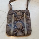Michael Kors Bags | Michael Kors Snake Crossbody | Color: Brown/Tan | Size: Os