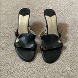 Nine West Shoes | Nine West Open-Toe Mule Sandal | Color: Black | Size: 8