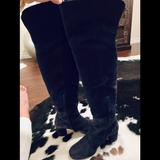 J. Crew Shoes   J Crew Indigo Suede Over The Knee Boots   Color: Blue   Size: 7.5