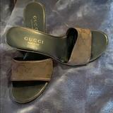 Gucci Shoes   Gucci Mules Chunky Sandals   Color: Brown   Size: 7.5