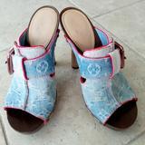 Louis Vuitton Shoes | Louis Vuitton Denim Platform Mules Size 36,5 | Color: Blue | Size: 6.5