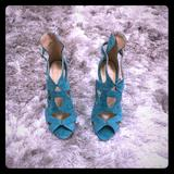 Zara Shoes   High Heels   Color: Green   Size: 7