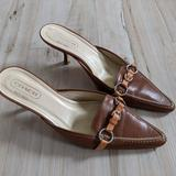 Coach Shoes   Coach Womens Brown Leather Slip-On Carrer Pumps H   Color: Brown   Size: 7b