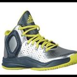 Adidas Shoes   Derrick Rose Basketball Shoes For Kids   Color: Silver   Size: 1.5bb