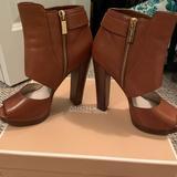 Michael Kors Shoes | Michael Kors Cutout Peep Toe Wedge Heel | Color: Brown | Size: 8