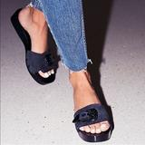 Free People Shoes | Free People Westtown Slide Clog Black Sz 6 New | Color: Black | Size: 6