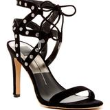 Anthropologie Shoes | Dolce Vita New Strappy Stud Sandal Lace Up Heel | Color: Black/Silver | Size: Various