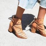 Free People Shoes | Free People X Baske Reese Distress Heel Boot | Color: Tan | Size: Various