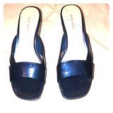 Nine West Shoes   Nine West Open Toe Cork Wedges   Color: Blue   Size: 8