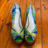 Nine West Shoes | Nine West Wedges!! | Color: Green/Yellow | Size: 8.5