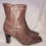 Nine West Shoes   Nine West Brown Leather Boots 3 Inch Heel Size 8.5   Color: Brown   Size: 8.5