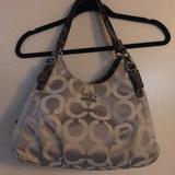 Coach Bags | Coach Madison Op Art Sateen Maggie Shoulder Bag | Color: Gray | Size: Os