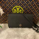 Tory Burch Bags | New Tory Burch Emerson Chain Wallet | Color: Black/Gold | Size: Os