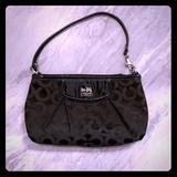 Coach Bags | Coach Madison Op Art Large Wristletshoulder Bag | Color: Black | Size: Small