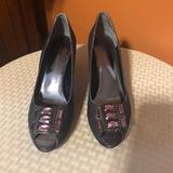 Nine West Shoes | Nine West Destynee Peep-Toe Pumps | Color: Purple | Size: 6.5