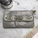 Nine West Bags | Nine West Patent Leather Chain Strap Purse Clutch | Color: Gold/Tan | Size: Os