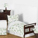 Sweet Jojo Designs Botanical Leaf 5 Piece Toddler Bedding Set Polyester in Green/White   Wayfair Botanical-Tod