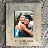 Sweetums Wall Decals Engraved Graduation Picture Frame Wood in Brown/Gray/White, Size 8.5 W x 0.5 D in | Wayfair 3573-VER