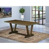 East West Furniture VT777 Wooden Table, Standard Height, Espresso