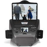 """High Resolution 16MP Film Scanner All-in-One, with 2.4"""" LCD Screen, Converts 35mm/135 Slides &Negatives Film Scanner Photo, Name Card, Slides and Negatives for Saving Films to Digital Files"""