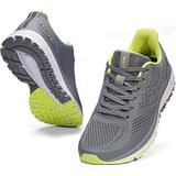 JOOMRA Mens Tennis Shoes Arch Supportive Trail Running Sneakers Gray Size 9.5 Lace Cushion Man Fashion Runner Walking Jogging Breathable Sport Footwear 43
