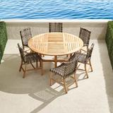 Isola 7-pc. Round Dining Set in Natural Finish - Frontgate