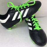 Adidas Shoes   New Kids Soccer Cleats Black Neon Green 3.5   Color: Black/Green   Size: 3.5g