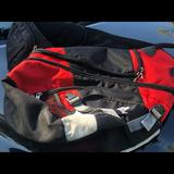 Adidas Bags | Adidas Load Spring Back Black Red Sports Bag | Color: Black/Red | Size: Os