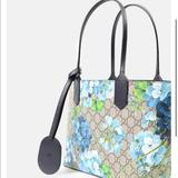 Gucci Bags | Gucci Small Tote Blooms Reversible Bag | Color: Blue | Size: Small