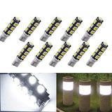 SHENKENUO 194 T10 T5 Wedge Base LED Bulb for Malibu Landscape Lighting Deck Lights Figurine Lights In-Ground Lights Step Lights Path Lights Spotlights Outdoor Garden Lighting, White DC12v (Pack of 10)