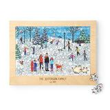 Family Snow Day Personalized Puzzle