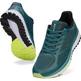 JOOMRA Mens Tennis Shoes Arch Supportive Trail Running Sneakers Green Size 9.5 Lace Cushion Man Fashion Runner Walking Jogging Breathable Sport Footwear 43