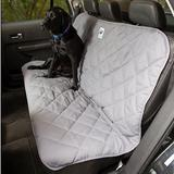 3 Dog Pet Supply Personalized Car Back Seat Protector, Grey