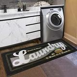 Black White Laundry Mat Vintage Laundry Room Runner Rug Laundry Floor Mat Durable Washhouse Mat Black Rug Non-Slip Doormat Farmhouse Rug 20x48