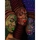Paint by Numbers for Adults African American, DIY Oil Painting African American Woman Paint by Number Kit for Kids Adults Beginner DIY Oil Painting Acrylic Painting Kits for Home Wall Decor 16x20 inch
