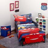 Disney Cars 3 Top Speed 4 Piece Toddler Bedding SetPolyester in Red | Wayfair 7025416