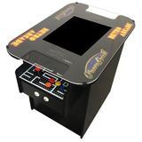 Suncoast Arcade 60 Games Cocktail Arcade Game, Size 27.5 H x 22.0 W x 34.5 D in | Wayfair SCC602PL-BLK