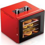NutriChef 4 Tray Premium Food Dehydrator Machine in Red, Size 13.5 H x 11.75 W x 9.5 D in | Wayfair PYRNCDH4S