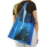 WFF Shopping Bags 1 Pack of Transparent Tote Bag, 6 Colors Female Jelly Bag, Gift Bag Shopping Bag, Plastic Bag Tote Bag (Color : Blue)