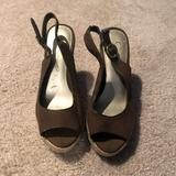 Jessica Simpson Shoes | Jessica Simpson Olive Wedge Sandals | Color: Green | Size: 6.5