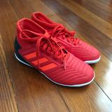Adidas Shoes   Kids Adidas Predator Indoor Soccer Shoes   Color: Black/Red   Size: 12.5b