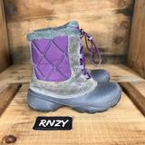 Columbia Shoes   Columbia Waterproof Warm Lined Winter Boot   Color: Gray/Purple   Size: 5g