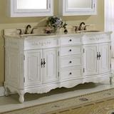 "Lark Manor™ Dysart 72"" Double Bathroom Vanity Wood/Marble Top in White, Size 35.0 H x 72.0 W x 21.0 D in   Wayfair EDA81D11E1CC45B6924C74EDA37B455C"