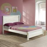 Sand & Stable™ Baby & Kids Ballast Solid Wood Platform Bed by Sand & Stable™ Wood in Red/White, Size 58.0 W x 86.0 D in | Wayfair