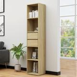 "vidaXL Book Cabinet Sonoma Oak 14.2""x11.8""x67.3"" Chipboard"
