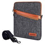 "DOMISO 10 Inch Waterproof Shockproof Tablet Shoulder Bag iPad Sleeve Protective Case Clutch Bag for 9.7"" 10.5"" 11"" iPad Pro, 10.5"" iPad Air, 10"" Surface Go, 10.8"" Huawei MediaPad M5 Pro, Dark Grey"