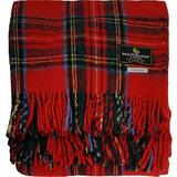 "I LUV LTD Scottish Tartan Warm Wool Mix Throw Blanket Royal Stewart Plaid Couch Blanket Bed Throw Blankets Wool Rug Outdoor Blankets and Throws 60"" x 72"""