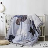 Pomco Bear Crib Bedding Set, 5PCS Cartoon Crib Baby Bedding Set-Includes Crib Comforter and Pillow Insert, Crib Duvet Cover, Fitted Sheet and Pillowcase, Animal Crib Bedding Set for Baby Boy Girl
