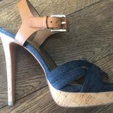 Coach Shoes | Coach Denim Heel Sandal | Color: Blue | Size: 6