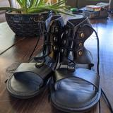 American Eagle Outfitters Shoes | Lace-Up High-Top American Eagle Sandals | Color: Black | Size: 5